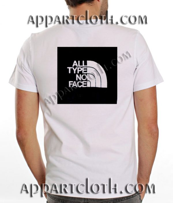 All Type No Face T Shirt Size S,M,L,XL,2XL