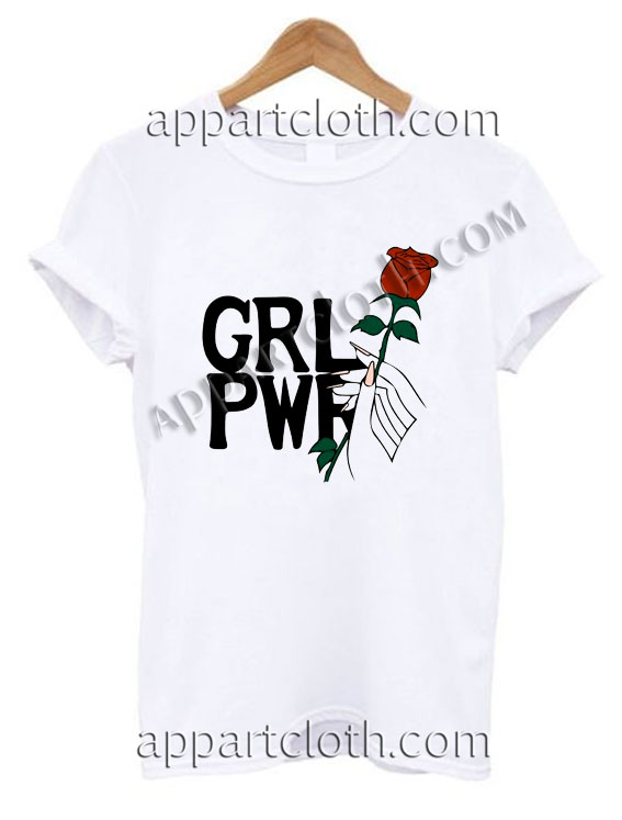 Girl Power Pretty Rose T Shirt Size S,M,L,XL,2XL