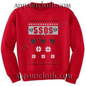 Buy 5 sos ugly christmas Unisex Sweatshirts
