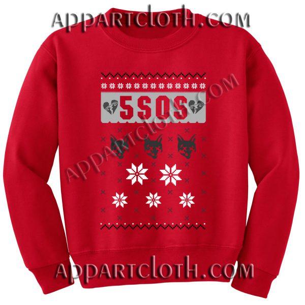 Buy 5 sos ugly christmas Unisex Sweatshirts