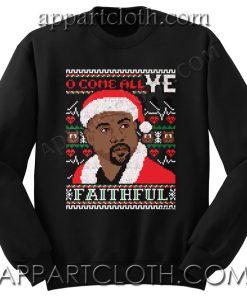 Buy Kanye west ugly christmas Unisex Sweatshirts