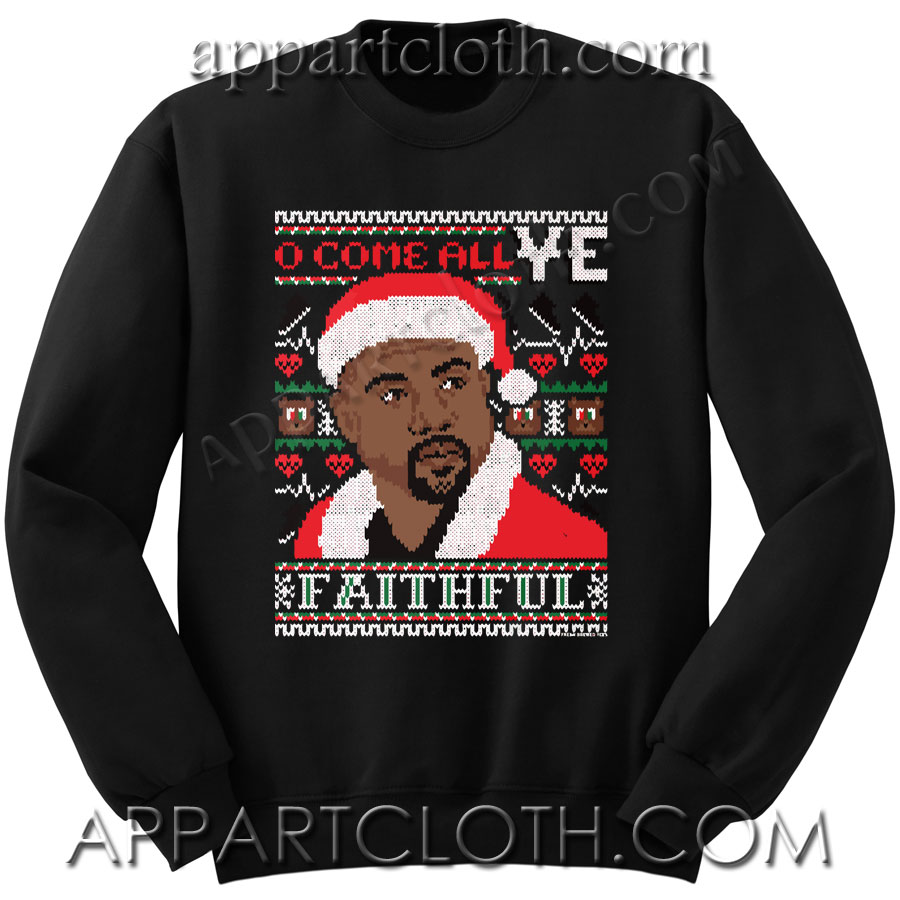 Buy Kanye west ugly christmas Unisex Sweatshirts