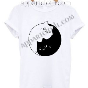 Yin Yang Cats Kittens T Shirt Size S,M,L,XL,2XL