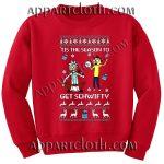 Buy rick and morty get schwifty Christmas Unisex Sweatshirts