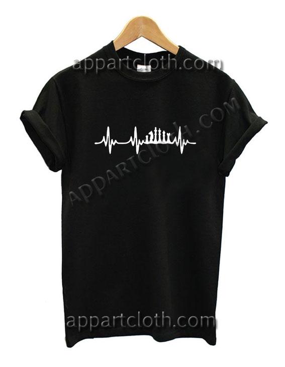 Chess Heartbeat Chess Funny Shirts