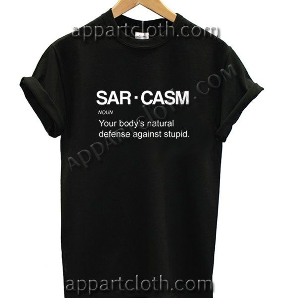 Sarcasm Definition Funny Shirts