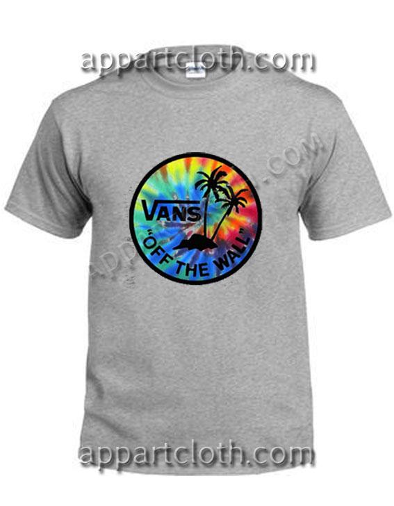Vans tie dye Funny Shirts