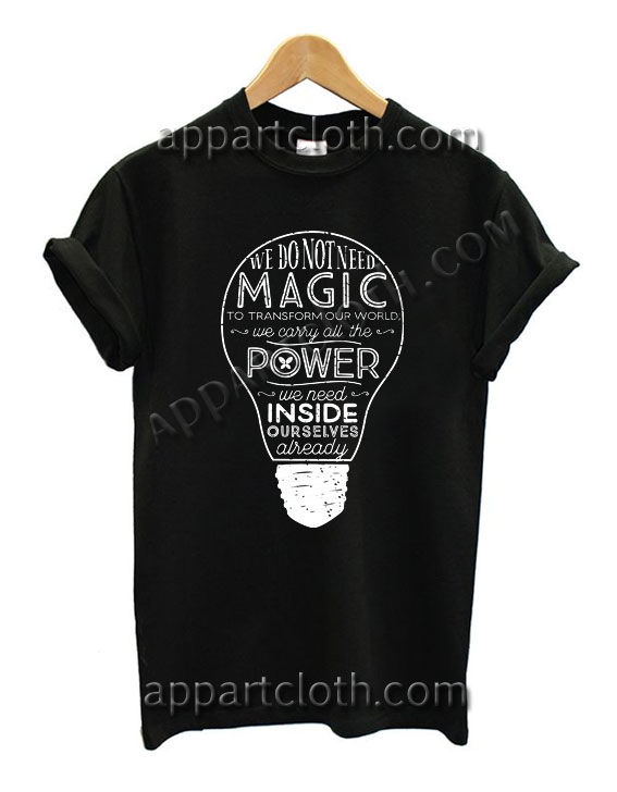 Harry Potter Magic Power Funny Shirts