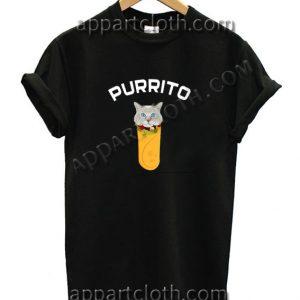 Purrito Funny Shirts