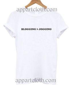 BLOGGING JOGGING Funny Shirts