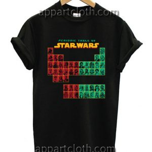 Periodic Table Of Star Wars Funny Shirts