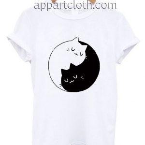 Yin Yang Cats Kittens Funny Shirts