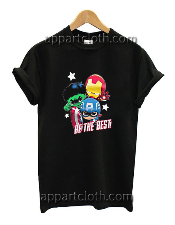 2ee116ba8 Captain America Hulk Iron man Be The Best Funny Shirts