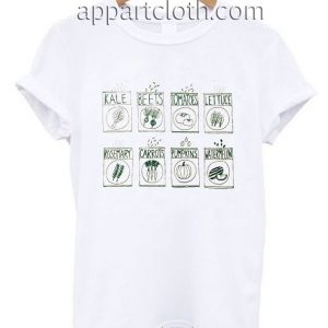 Garden Seeds Screen Kale Beet Tomatoes Funny Shirts