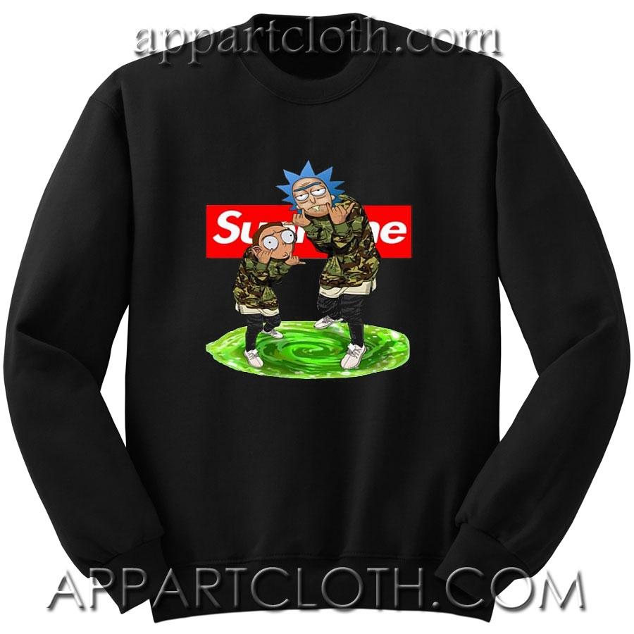 1268c86939cb Rick and Morty Supreme Unisex Sweatshirts – Funny America Shirts