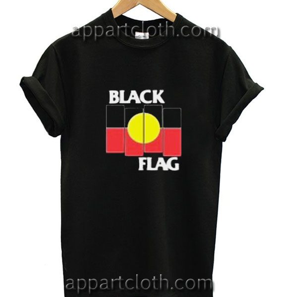 Black Flag X Aboriginal Flag Funny Shirts