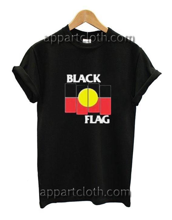 Black Flag X Aboriginal Flag Funny Shirts