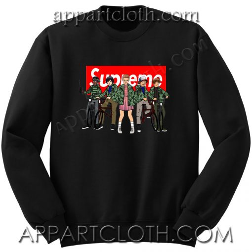 Supreme With All The Stranger Things Kids Unisex Sweatshirts