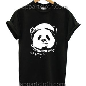 Space Panda Funny Shirts