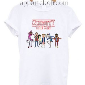 Stranger Things Rick And Morty Inspired Funny Shirts