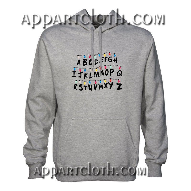Stranger things abc wall Hoodie