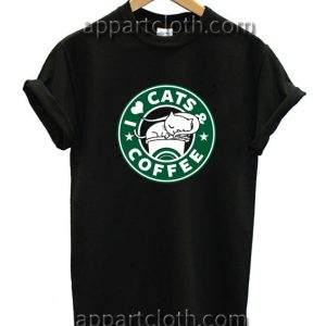 I Love Cats and Coffee Funny Shirts