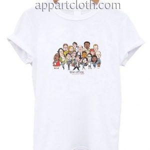 The Office Cast Cartoon Funny Shirts