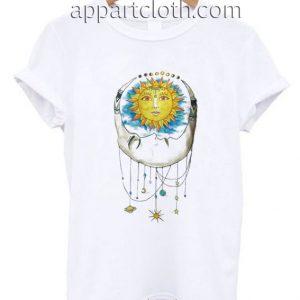 Women Sun Moon Funny Shirts