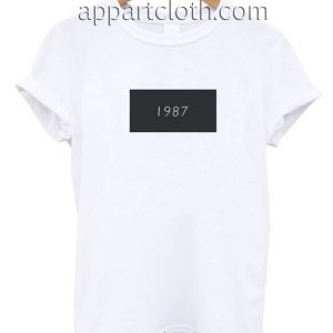 1987 White Funny Shirts
