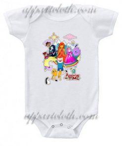 Adventure Time Collage Funny Baby Onesie