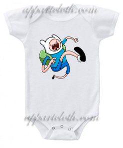 Adventure Time Finn Funny Baby Onesie