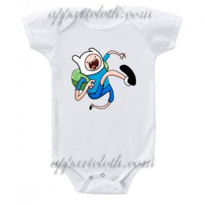 Adventure Time Finn Funny Baby Onesie