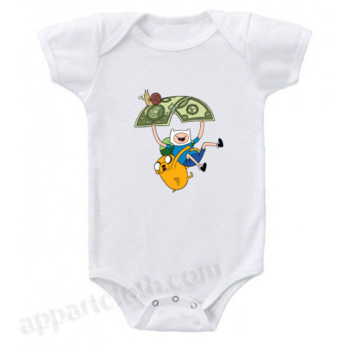 Adventure Time Jack and Fine Funny Baby Onesie