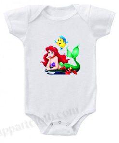 Ariel Litle Mermaid Funny Baby Onesie