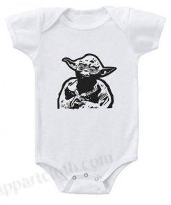 Boys Yoda Star Wars Funny Baby Onesie