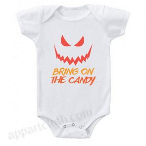 Bring On The Candy Jack O' Lantern Funny Baby Onesie