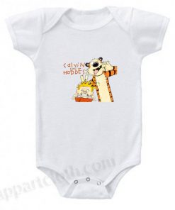 Calvin and Hobbes Smile Funny Baby Onesie