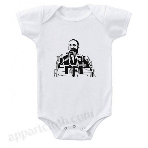 Martin Luther King Funny Baby Onesie