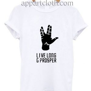 New star trek spock live long and prosper Funny Shirts