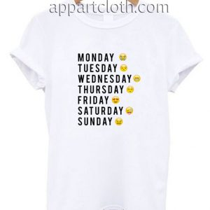 Days Of The Week Emoji Funny Shirts
