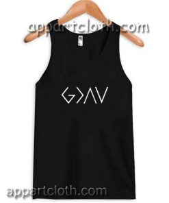 God is Greater Than The Highs and Lows Adult tank top