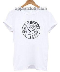 Girls Support Girls Feminist Funny Shirts