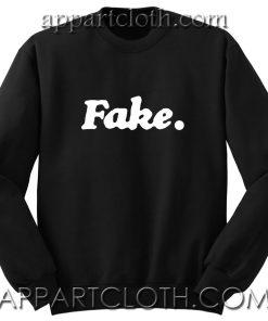 Fake Unisex Sweatshirt