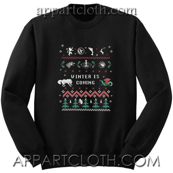 Game of thrones chritsmas Unisex Sweatshirt