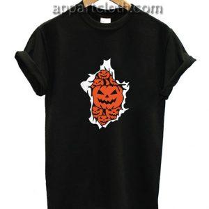 Halloween Pumpkins Burst Funny Shirts