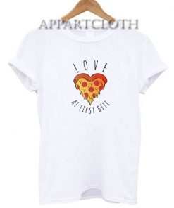 Love at first bite pizza Funny Shirts