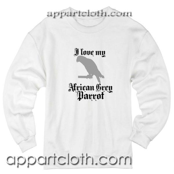 African Grey Parrot Unisex Sweatshirt
