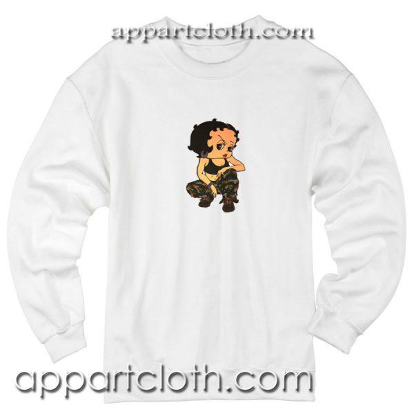 Boop Soldier Camo Unisex Sweatshirt