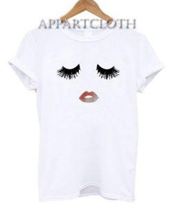 Eyelashes And Lips Funny Shirts