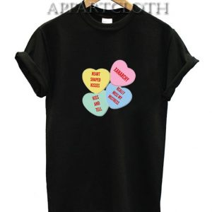 Heart Shaped Kisses Funny Shirts